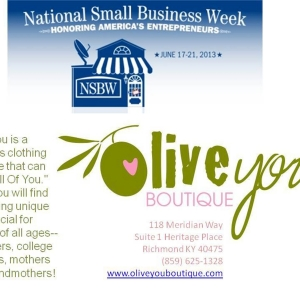 National Small Business Week client focus Olive You Boutique