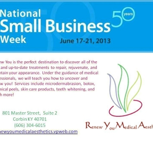 National Small Business Week client focus Renew You Medical Aesthetics
